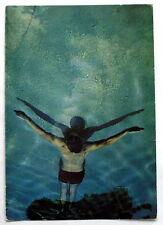 Carte postale Barend Houstmuller,1981,natation sous marine    postcard