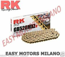 K520MXZ13002 - RK MOTO CATENA TRASMISSIONE RK 520MXZ4 ORO 130 MAGLIE CL