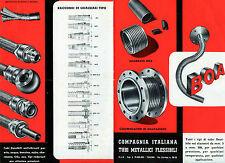 Pubblicità WERBUNG - TORINO 1950 -COMPAGNIA ITALIANA TUBI METALLICI FLESSIBILI