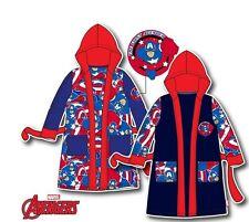 Avengers Bademantel 104 116 128 140 America Morgenmantel Kinderbademantel