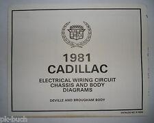 Elektrischer Schaltplan / Wiring Diagram Cadillac DeVille Brougham Body 1981