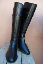 VIA SPIGA Womens Fashion Boots Black Leather Knee High Italian Riding Size 10M