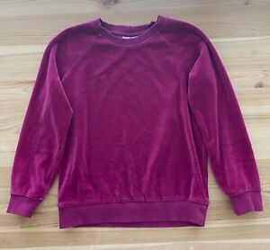 HANNA ANDERSSON Burgundy Soft Velour Sweater Size 130 US 8