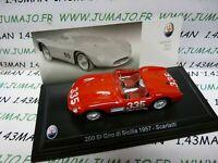 MAS45 voiture 1/43 LEO models MASERATI TIPO 200 SI Giro de Sicile 1957 Scarlatti