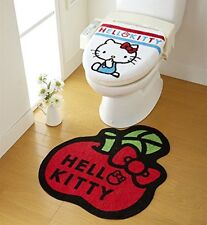 Sanrio Sanrio big apple is cute Hello Kitty toilet 2 piece set lid cover to