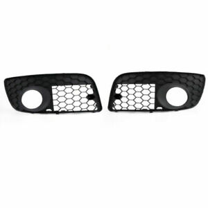 Pair Front Bumper Fog Lamp Lights Grill Grille For VW GOLF MK5 GTI 2006-2009 F6