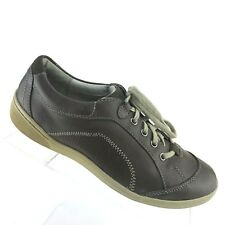 Privo Clarks Outdoor Shoes Brown Leather Sneaker Lace Up Womens Shoe SIZE 8.5 M