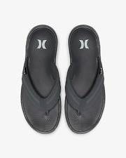 Hurley PHANTOM Free Motion 2.0 Sandals (NEW) Mens FLIP FLOPS Grey Gray FREE SHIP