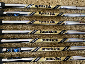 "DYNAMIC GOLD X7 X-Flex STEEL IRON SHAFTS (4-PW) .355"" Taper Tip SST Pured"
