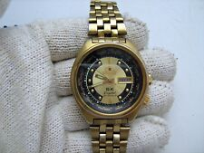 VINTAGE Japan MENS AUTOMATIC watch ORIENT WORLD TIME 21jewels