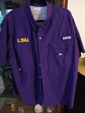 Columbia Fishing L S U  vented Shirt Size XXL/2TG