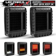 2Pcs Smoke LED Tail Lights Brake Reverse Turn Signal Light For Jeep Wrangler JK