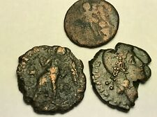 New ListingAncient Auth. 3 Rare$ Roman Coins; 307-361 Ad. Victory Dragging, Victory, Wreath