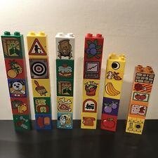Lego Duplo 30 Piece Lot Printed Bricks Blocks Bundle No Duplicates Vintage Set A