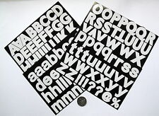 SCRAPBOOKING NO 155 - 100 + LARGE WHITE ALPHABET / LETTERS  STICKERS