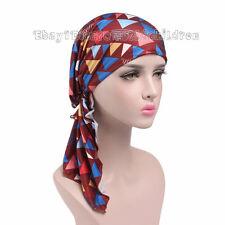 Women Bandana Head Wrap Scarf Chemo Hats  Islamic Muslim Hijab Turbante Turban