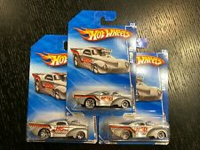HOT WHEELS SILVER GREY STREET OUTLAWS MSD IGNITION PRO MOD 41 WILLYS 106 DRAG
