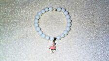 27d8f74a9390 Anuncio nuevoLinda Rosa Flamingo Ave exótica Animales Zoo Stretch pulsera  con dijes Joyería