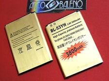 Batteria 3800Mah PER LG OPTIMUS G3 D855 BL-53YH POTENZIATA MAGGIORATA CAPACITA'