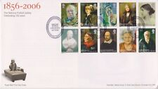 Risolte matita London PMK GB Royal mail FDC 2006 Set Timbro Galleria Ritratto
