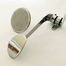 All Chrome Hot Rod Spoon Gas Pedal & Knurled Brake Pedal Combo
