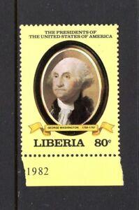 Liberia 1981 U.S. PRESIDENT GEORGE WASHINGTON, 1789-1797 MNH Sc 910