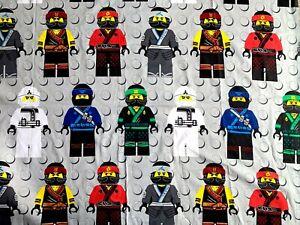 "LEGO Ninjago Grey Huge Fabric Piece - L40"" x W115"" inches - Cotton Blend"