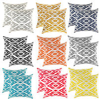 TreeWool, (2 Pack) Ogee Diamond Design Cotton Canvas Cushion Covers (Seconds)