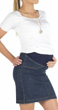 Maternity Skirt Denim Skirt Jeans Knee Length Maternity Pregnancy Belly Stretch