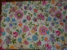 "Pottery Barn Kids ""Colorful Flowers"" Twin Flat Sheet"