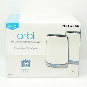 Netgear Orbi RBK852-100NAS Tri-band Mesh WiFi 6 System AX6000 - NEW! SEALED!