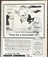 1955 Lemon Products Advisory Board PRINT AD California Frozen Lemonade Don Tobin