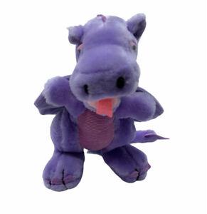 "Vintage Dragon Plush Purple Lilac Nature Babies Dakin 10"" 1983 Stuffed Animal"