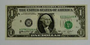1974 - $1 Federal Reserve Note - Misalignment Error - Circulated