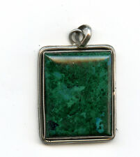 Chrysocolla pendant Gemstone Pendant set in Sterling Silver 20gr 24x30 22515B