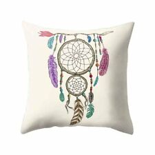 Cushion Pillow Cover Dream Catcher Dreamcatcher Purple Pink Turquoise Feathers