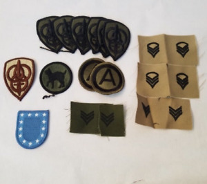 Patch Lot 16 pc patches Military New Embroidered on Fabric Vintage Look