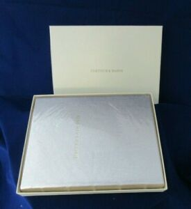 Fortnum & Mason Entertaining Leather Hardcover Book NIB Metallic Gold