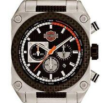 PRE-OWNED $375 Harley-Davidson Men's Bulova Chronograph Wrist Watch 78B117