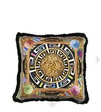 VERSACE HOME Psychedelic Medusa Silk Pillow Cushion NEW