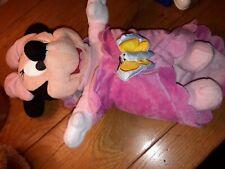 Peluche Doudou Minnie Rose Couverture Bébé Minnie