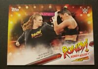 2019 Topps WWE Wrestling Rowdy! Ronda Rousey Spotlight Inserts #9