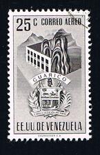 VENEZUELA 1 FRANCOBOLLO GUARICO CORREO AEREO 1953 usato (BAW6)