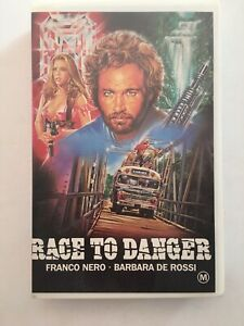 RACE TO DANGER (1985) - RARE Australian Showcase Video VHS Issue GIALLO THRILLER