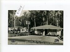 Ocala FL Florida (Marion Co) RPPC real photo postcard, old cars, office, signs