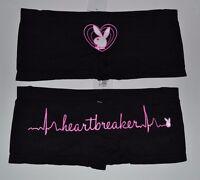 Playboy Heartbreaker Boyshorts Panties You Choose Size  90% Nylon 10% Spandex