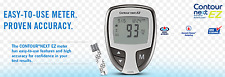 Bayer Contour Next Ez Meter with Case Manual - Diabetic Monitor - Glucose