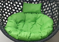 Green Rattan Hanging Egg Chair Cushion Indoor Outdoor Detached Pads Swing Chair