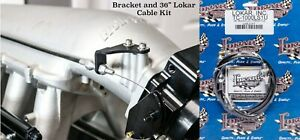 """Holley Hi-Ram Throttle Cable Bracket with 36"""" Lokar Throttle Cable included LSX"""