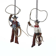 Western Cowboys With Lasso Ornament